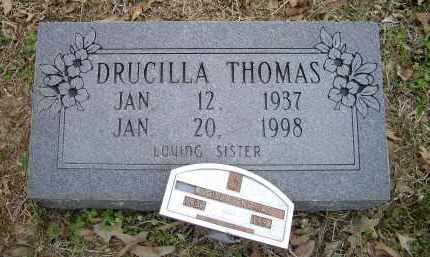 WARNER THOMAS, DRUCILLA - Lawrence County, Arkansas | DRUCILLA WARNER THOMAS - Arkansas Gravestone Photos