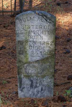 THORNTON, JULIA ALICE - Lawrence County, Arkansas | JULIA ALICE THORNTON - Arkansas Gravestone Photos