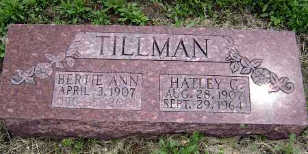 TILLMAN, HATLEY C - Lawrence County, Arkansas | HATLEY C TILLMAN - Arkansas Gravestone Photos
