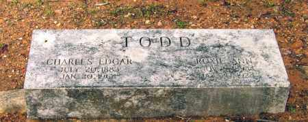 TODD, CHARLES EDGAR - Lawrence County, Arkansas | CHARLES EDGAR TODD - Arkansas Gravestone Photos