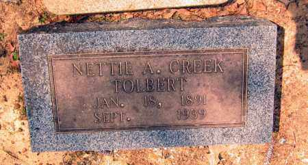 CREEK TOLBERT, NETTIE A. - Lawrence County, Arkansas | NETTIE A. CREEK TOLBERT - Arkansas Gravestone Photos