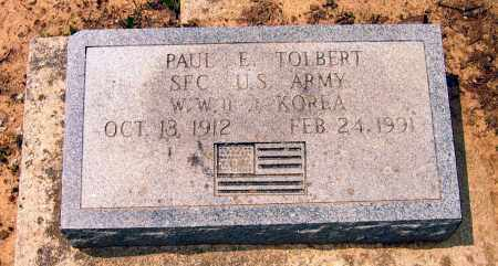 TOLBERT (VETERAN 2 WARS), PAUL E. - Lawrence County, Arkansas | PAUL E. TOLBERT (VETERAN 2 WARS) - Arkansas Gravestone Photos