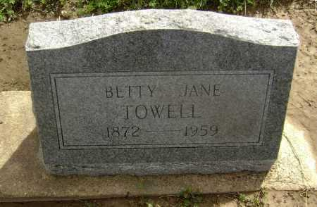 TOWELL, BETTY JANE - Lawrence County, Arkansas | BETTY JANE TOWELL - Arkansas Gravestone Photos