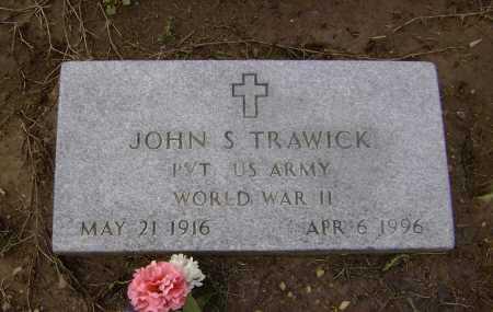 TRAWICK  (VETERAN WWII), JOHN SPENCER - Lawrence County, Arkansas | JOHN SPENCER TRAWICK  (VETERAN WWII) - Arkansas Gravestone Photos