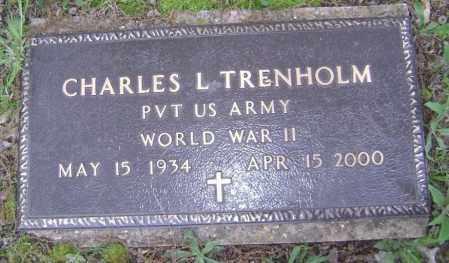 TRENHOLM (VETERAN WWII), CHARLES L. - Lawrence County, Arkansas | CHARLES L. TRENHOLM (VETERAN WWII) - Arkansas Gravestone Photos