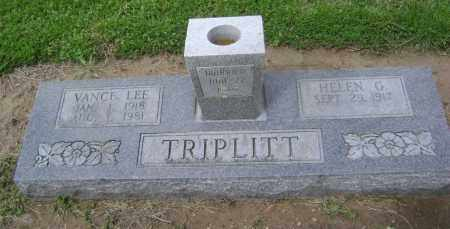 TRIPLITT (VETERAN WWII), VANCE LEE - Lawrence County, Arkansas   VANCE LEE TRIPLITT (VETERAN WWII) - Arkansas Gravestone Photos