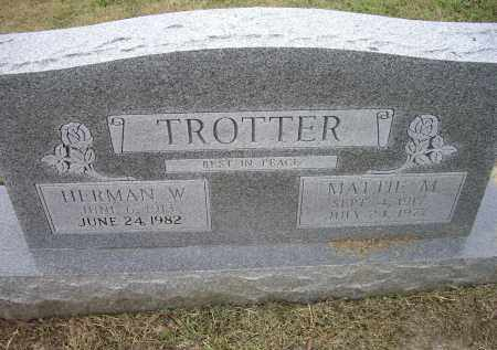 TROTTER, MATTIE M. - Lawrence County, Arkansas | MATTIE M. TROTTER - Arkansas Gravestone Photos