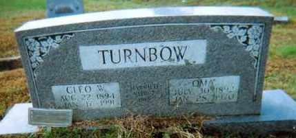"BAKER TURNBOW, MATTIE NAOMI ""OMA"" - Lawrence County, Arkansas 