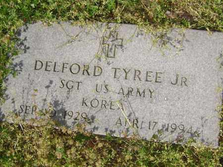 TYREE, JR. (VETERAN KOR), DELFORD - Lawrence County, Arkansas | DELFORD TYREE, JR. (VETERAN KOR) - Arkansas Gravestone Photos