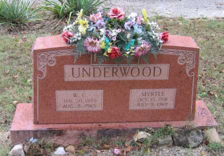 "UNDERWOOD, WILLIAM CLAY ""W. C."" - Lawrence County, Arkansas 