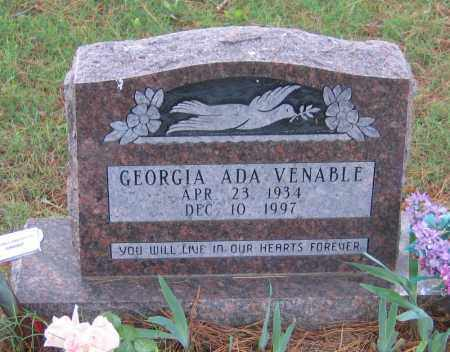 VENABLE, GEORGIA ADA - Lawrence County, Arkansas | GEORGIA ADA VENABLE - Arkansas Gravestone Photos