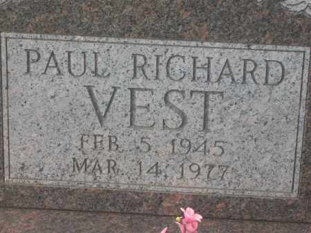 VEST, PAUL RICHARD - Lawrence County, Arkansas | PAUL RICHARD VEST - Arkansas Gravestone Photos