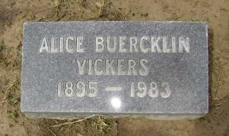 BUERCKLIN VICKERS, ALICE - Lawrence County, Arkansas | ALICE BUERCKLIN VICKERS - Arkansas Gravestone Photos