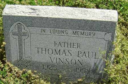 VINSON, THOMAS PAUL - Lawrence County, Arkansas   THOMAS PAUL VINSON - Arkansas Gravestone Photos