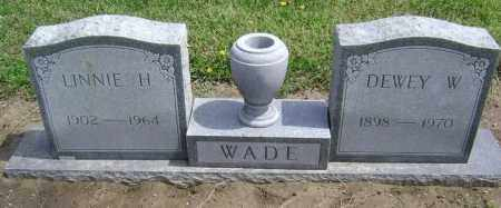 WADE, DEWEY W. - Lawrence County, Arkansas | DEWEY W. WADE - Arkansas Gravestone Photos