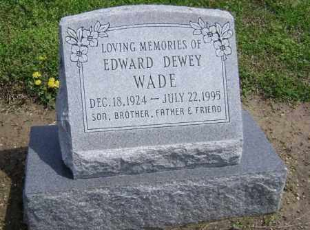 WADE, EDWARD DEWEY - Lawrence County, Arkansas | EDWARD DEWEY WADE - Arkansas Gravestone Photos