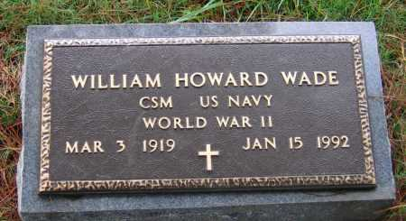 WADE (VETERAN WWII), WILLIAM HOWARD - Lawrence County, Arkansas | WILLIAM HOWARD WADE (VETERAN WWII) - Arkansas Gravestone Photos