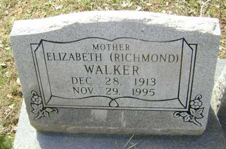 WALKER, ELIZABETH WILLIAMS RICHMOND - Lawrence County, Arkansas | ELIZABETH WILLIAMS RICHMOND WALKER - Arkansas Gravestone Photos