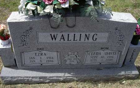DAVIS WALLING, CLEDA MAE - Lawrence County, Arkansas | CLEDA MAE DAVIS WALLING - Arkansas Gravestone Photos