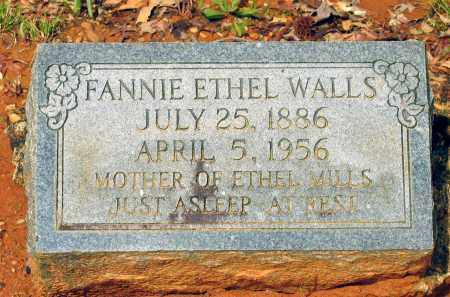 WALLS, FANNIE ETHEL - Lawrence County, Arkansas | FANNIE ETHEL WALLS - Arkansas Gravestone Photos