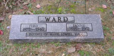 "WARD, FRANCES ""FANNIE"" - Lawrence County, Arkansas | FRANCES ""FANNIE"" WARD - Arkansas Gravestone Photos"