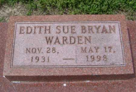BRYAN WARDEN, EDITH SUE - Lawrence County, Arkansas | EDITH SUE BRYAN WARDEN - Arkansas Gravestone Photos