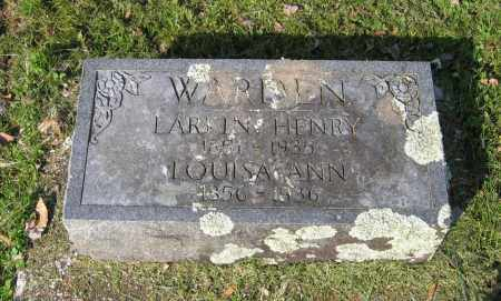 WARDEN, LARKIN HENRY - Lawrence County, Arkansas | LARKIN HENRY WARDEN - Arkansas Gravestone Photos