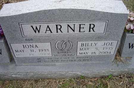 BARNETT WARNER, IONA - Lawrence County, Arkansas   IONA BARNETT WARNER - Arkansas Gravestone Photos
