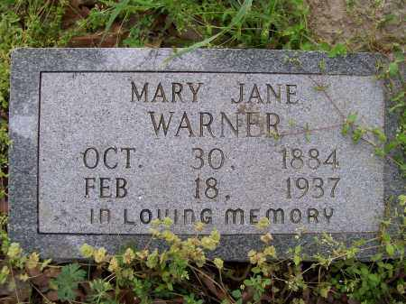 WARNER, MARY JANE - Lawrence County, Arkansas | MARY JANE WARNER - Arkansas Gravestone Photos
