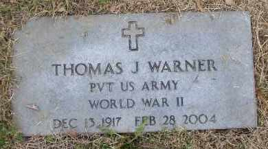 WARNER (VETERAN WWII), THOMAS JEFFERSON - Lawrence County, Arkansas | THOMAS JEFFERSON WARNER (VETERAN WWII) - Arkansas Gravestone Photos
