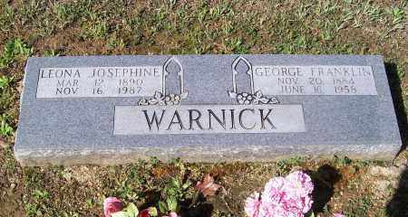 GOODWIN WARNICK, LEONA JOSEPHINE - Lawrence County, Arkansas | LEONA JOSEPHINE GOODWIN WARNICK - Arkansas Gravestone Photos