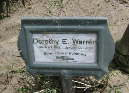 WARREN, DOROTHY E. - Lawrence County, Arkansas | DOROTHY E. WARREN - Arkansas Gravestone Photos