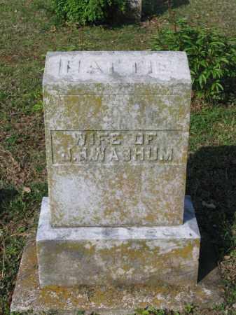 WASHUM, HATTIE J. - Lawrence County, Arkansas | HATTIE J. WASHUM - Arkansas Gravestone Photos