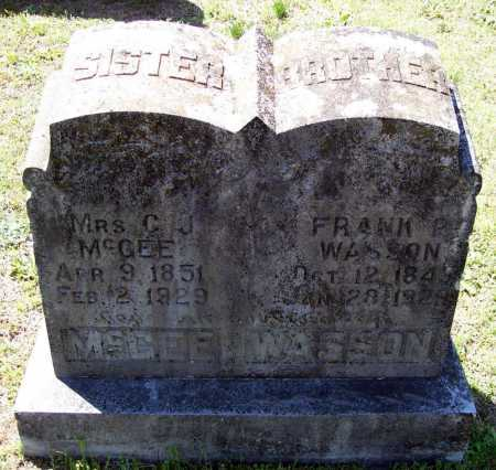 "WASSON, FRANKLIN PINKNEY ""FRANK P."" - Lawrence County, Arkansas 