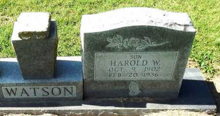 WATSON, HAROLD W. - Lawrence County, Arkansas | HAROLD W. WATSON - Arkansas Gravestone Photos