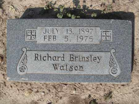 WATSON, RICHARD BRINSLEY - Lawrence County, Arkansas | RICHARD BRINSLEY WATSON - Arkansas Gravestone Photos