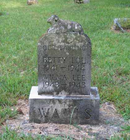 WATTS, BETTY LOU - Lawrence County, Arkansas | BETTY LOU WATTS - Arkansas Gravestone Photos