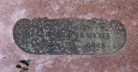 WATTS, ETHEL ESSIE GRAVES - Lawrence County, Arkansas | ETHEL ESSIE GRAVES WATTS - Arkansas Gravestone Photos