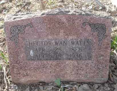 WATTS, HECTOR WAN - Lawrence County, Arkansas | HECTOR WAN WATTS - Arkansas Gravestone Photos