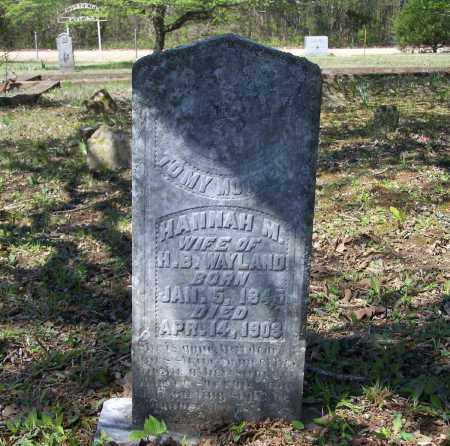 TURMAN WAYLAND, HANNAH M. - Lawrence County, Arkansas | HANNAH M. TURMAN WAYLAND - Arkansas Gravestone Photos