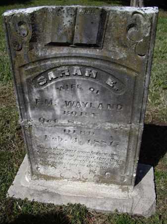 WAYLAND, SARAH ELIZABETH - Lawrence County, Arkansas | SARAH ELIZABETH WAYLAND - Arkansas Gravestone Photos