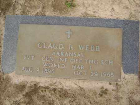 WEBB  (VETERAN WWI), CLAUD RUBIN - Lawrence County, Arkansas | CLAUD RUBIN WEBB  (VETERAN WWI) - Arkansas Gravestone Photos