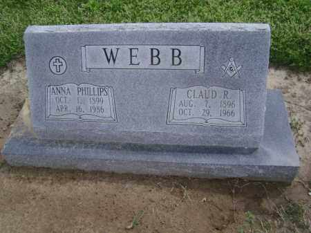 PHILLIPS WEBB, ANNA - Lawrence County, Arkansas | ANNA PHILLIPS WEBB - Arkansas Gravestone Photos