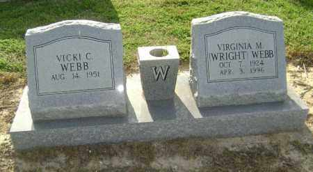 WEBB, VIRGINIA M. WRIGHT - Lawrence County, Arkansas | VIRGINIA M. WRIGHT WEBB - Arkansas Gravestone Photos