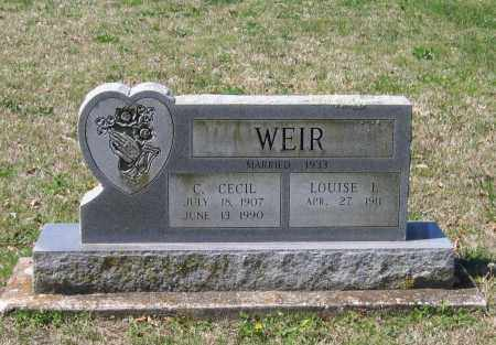 WEIR, CHARLES CECIL - Lawrence County, Arkansas | CHARLES CECIL WEIR - Arkansas Gravestone Photos