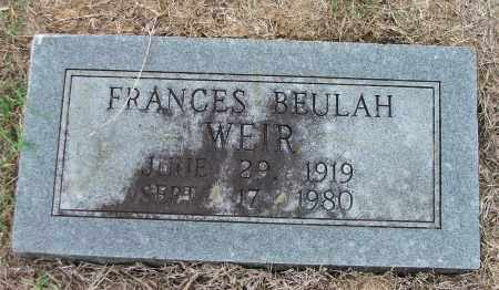 WEIR, FRANCES BEULAH - Lawrence County, Arkansas | FRANCES BEULAH WEIR - Arkansas Gravestone Photos