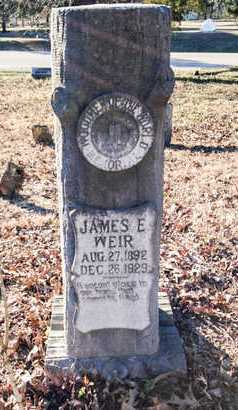 WEIR, JAMES ERNEST - Lawrence County, Arkansas | JAMES ERNEST WEIR - Arkansas Gravestone Photos