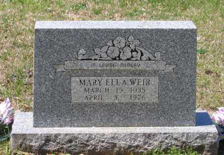 WEIR, MARY ELLA - Lawrence County, Arkansas | MARY ELLA WEIR - Arkansas Gravestone Photos