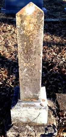 SMITH WEIR, MARTHA J. - Lawrence County, Arkansas | MARTHA J. SMITH WEIR - Arkansas Gravestone Photos