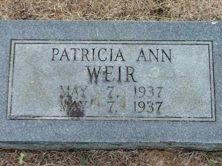 WEIR, PATRICIA ANN - Lawrence County, Arkansas | PATRICIA ANN WEIR - Arkansas Gravestone Photos